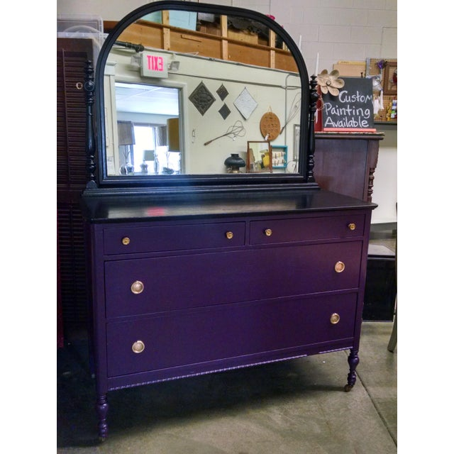 1950s Vintage Dresser With Mirror - Image 2 of 10