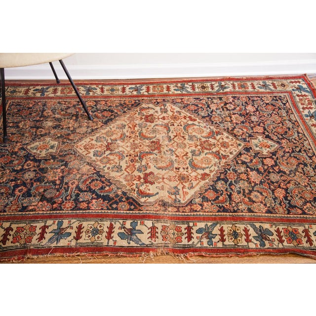 "Antique Bijar Area Rug - 5'4"" X 6'8"" - Image 3 of 10"