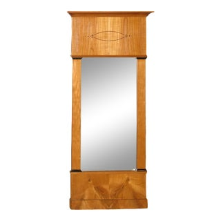 Mid 18th Century Biedermeier Satin Birch Mirror For Sale