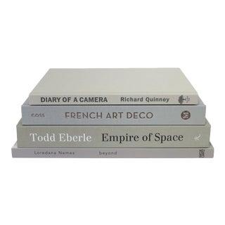 Modern Greige ColorStak Books - Set of 4 For Sale