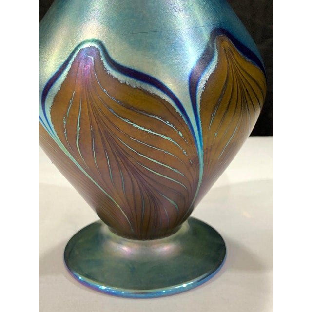 Glass Vandermark Art Glass Decanter, in the Style of Louis Comfort Tiffany For Sale - Image 7 of 8