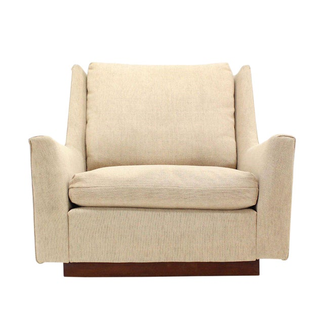 Large Lounge Chair on Walnut Frame Base by Harvey Probber For Sale