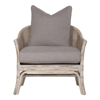 Show Room Sample: Octagonal Cane Lounge Chair - A Pair