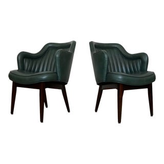Mid-Century Modern Arm Chairs by Hiebert - a Pair For Sale