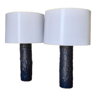 Pair of Contemporary Studio Ceramic Table Lamps by Brenda Williams for Christopher Anthony Ltd. For Sale