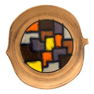 1970s Italian Abstract Enameled Ceramic Bowl