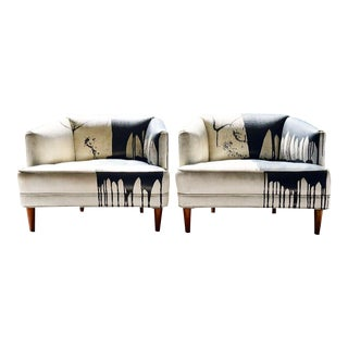 Mid-Century Modern Accent Chairs- a Pair For Sale