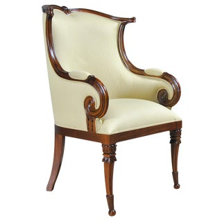 American Upholstered Arm Chair For Sale