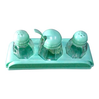 Mid-Century Salt, Pepper and Condiment Set For Sale