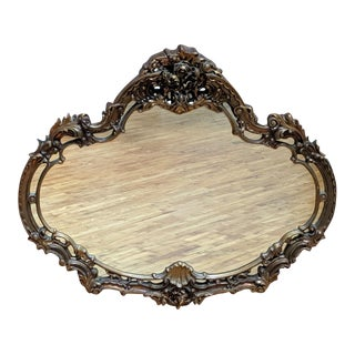 Rococo Round Hanging Mirror For Sale
