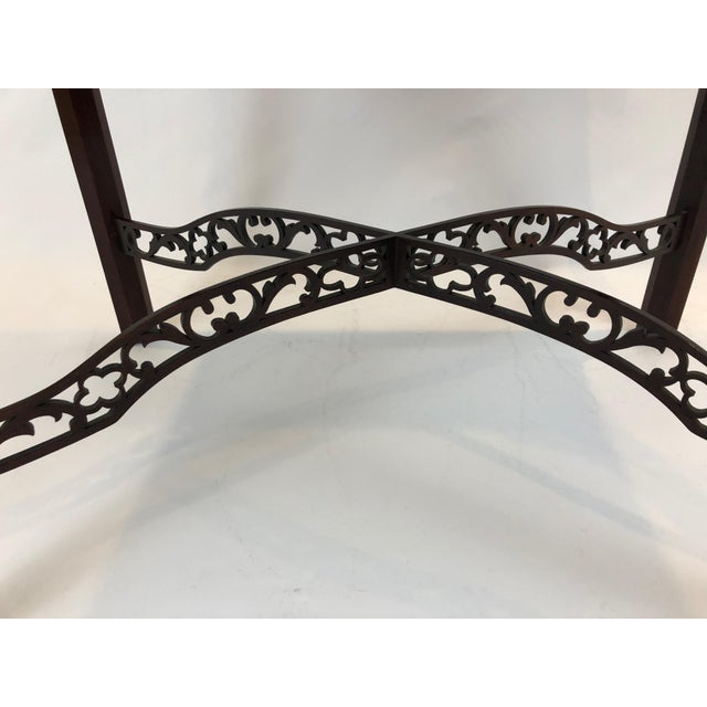 Chippendale Flame Mahogany Side Table For Sale - Image 9 of 13