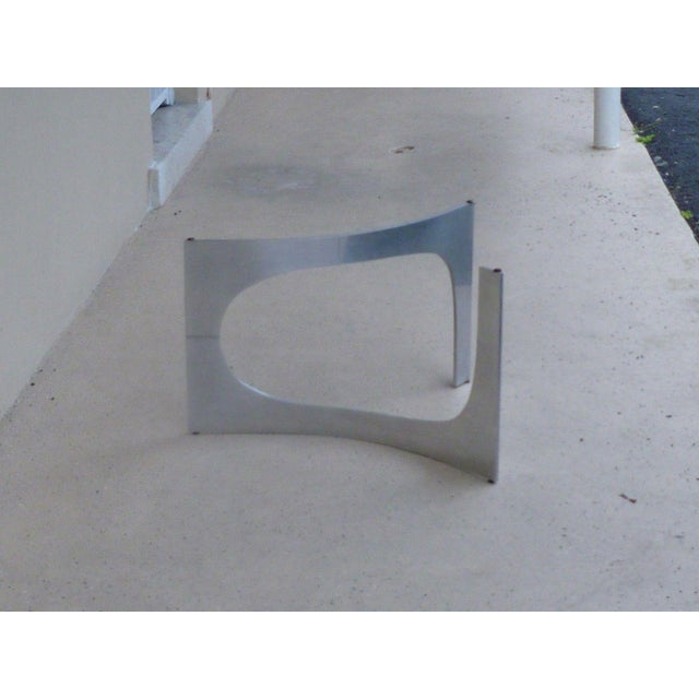 Mid Century Modern Aluminum Sculptural Table by Knut Hesterberg by Bacher Tische For Sale - Image 10 of 11