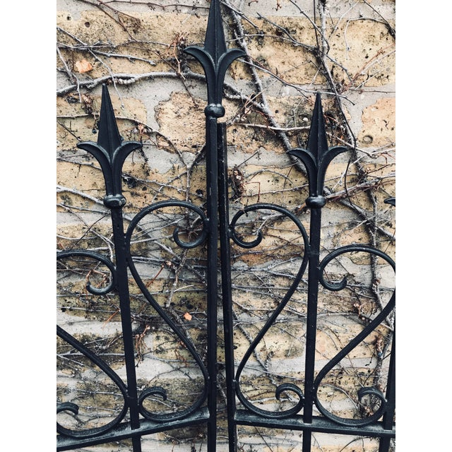 1960s Heavy Wrought Iron Gate For Sale - Image 5 of 6