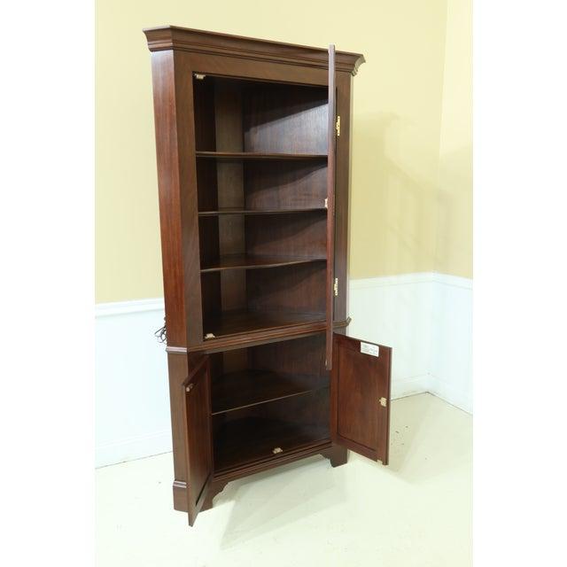 1970s Henkel Harris Model 1114 Mahogany Large Corner Cabinet For Sale - Image 5 of 12