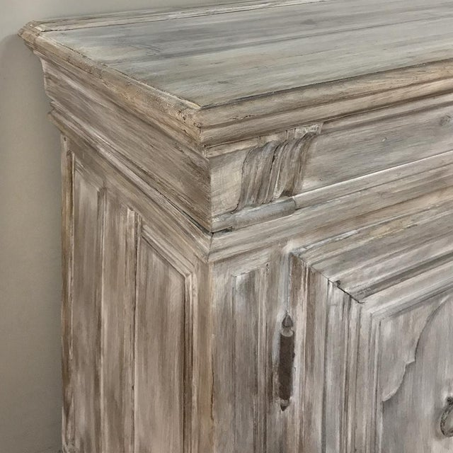 Early 18th Century Country French Whitewashed Buffet For Sale - Image 11 of 13