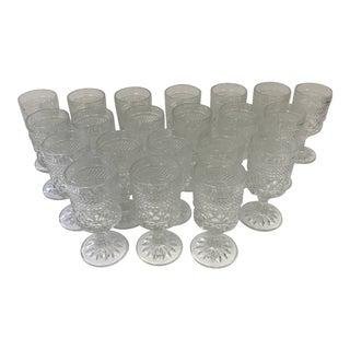 1970s Vintage Anchor Hocking Wexford Wine Claret Glasses - Set of 21 For Sale
