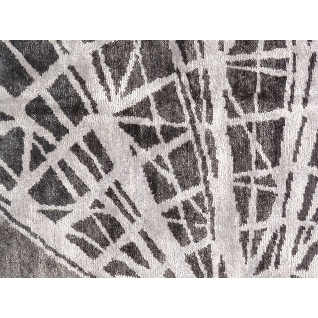 """Pasargad NY Modern Bamboo Silk Hand-Knotted Area Rug - 10'2"""" X 14' For Sale - Image 5 of 8"""