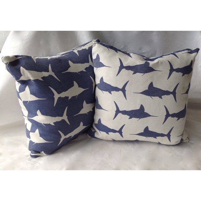 Marlin Indoor/Outdoor Pillows - A Pair For Sale In West Palm - Image 6 of 8