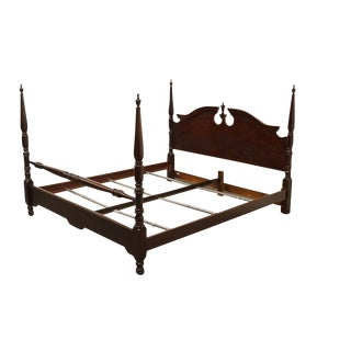 20th Century Traditional Style Cherry King Size Four Poster Bedframe For Sale