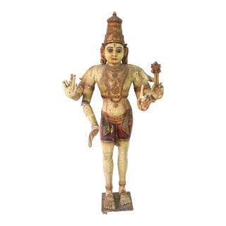 Antique Life Size Temple Statue. Hindu God Shiva. Early 1800s For Sale