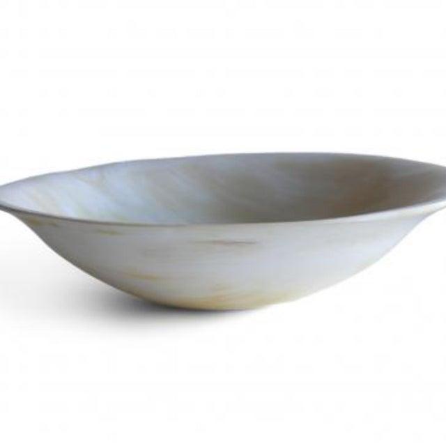 Minimalism Rimmed Horn Bowl For Sale - Image 3 of 5
