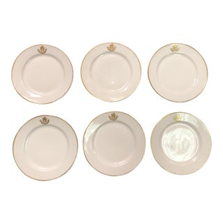 18th Century French Porcelain Bread and Butter Plates - Set of 6