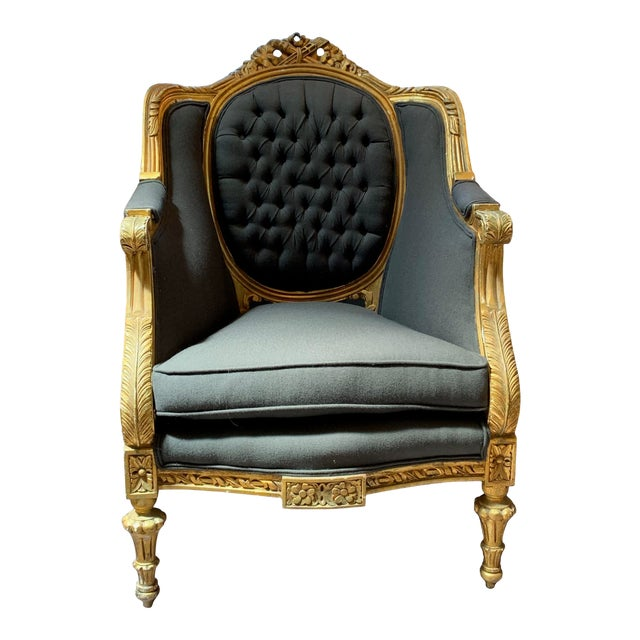 1900s Baroque Tufted Chair For Sale