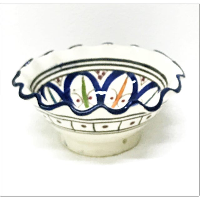 Small Moroccan Hand Painted Dark Blue Bowl - Image 2 of 3