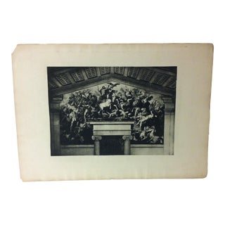 "Vintage Print on Paper, ""The Mural"" -- Artist Unknown, Circa 1900 For Sale"