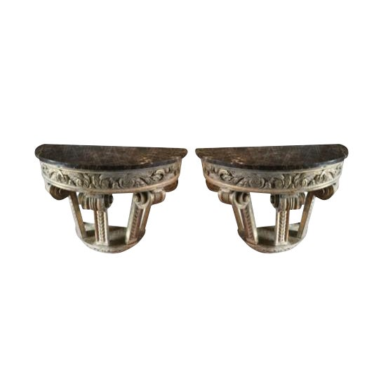 Italian Wall Mounted Capitals- A Pair For Sale