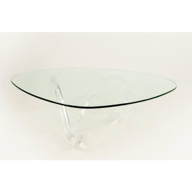 Contemporary Knut Hesterberg Lucite Noguchi Style Coffee Table For Sale - Image 3 of 5