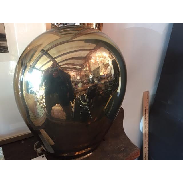 2000 - 2009 Contemporary Italian Salviati Murano Gold Glass Lamp For Sale - Image 5 of 7