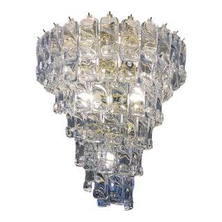 Brass & Plastic Cascading Chandelier