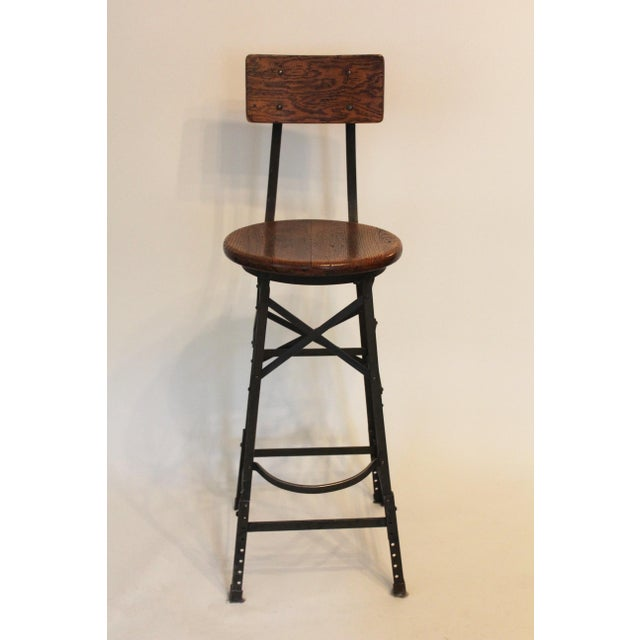 Rustic and original in form, this non-matching trio of industrial stools come from a factory in Connecticut. Lightweight...