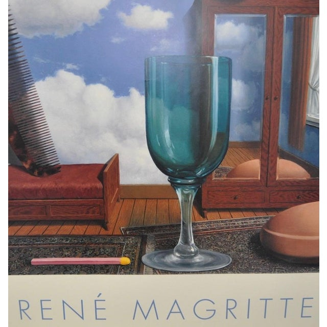 C.2000 Rene Magritte Exhibition Poster San Francisco Museum of Modern Art For Sale - Image 5 of 6