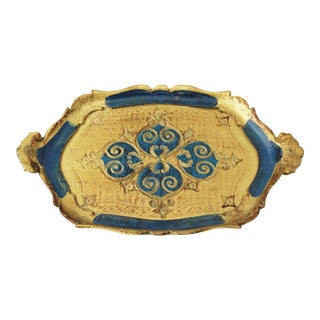Italian Gilded Florentine Tray For Sale