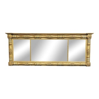 19th Century Federal Gilt Overmantle Mirror