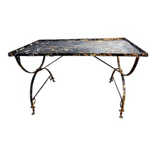 19th Century Wrought Iron Breakfast Table For Sale