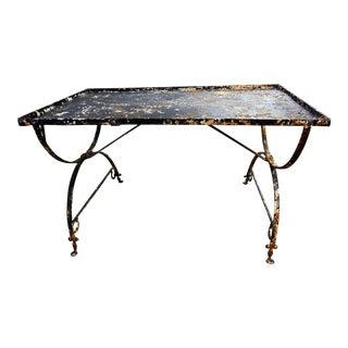 19th Century Wrought Iron Breakfast Table