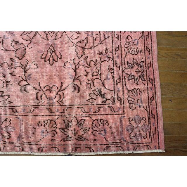 Pink Overdyed Oushak Rug - 6′2″ × 9′1″ - Image 5 of 7