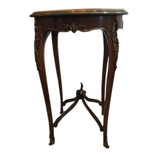Round Marble Top Antique Table For Sale