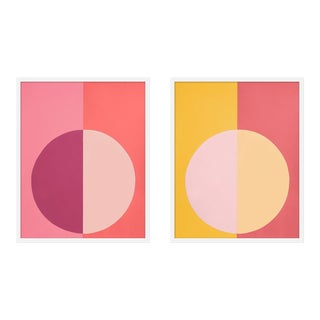 "XL ""Pink and Orange Forever, a Pair"" Print by Stephanie Henderson, 25"" X 62"" For Sale"
