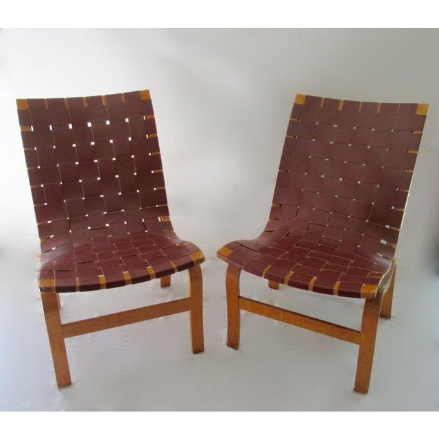 Vintage: c.1940-49, Original Mid-Century Modern, Scandinavian pair of curve linear, contour, Bent Birch wood. body-shaped,...