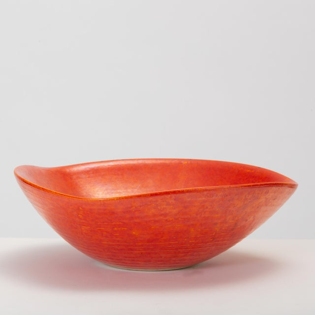 Red Glazed Studio Pottery Bowl For Sale In Los Angeles - Image 6 of 12