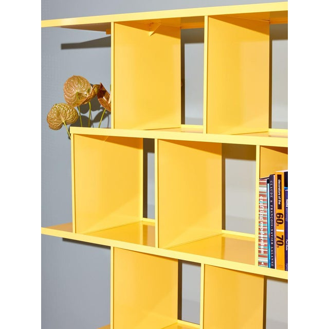 2010s Michael Felix Yellow Powder-Coated Metal Shelves For Sale - Image 5 of 10