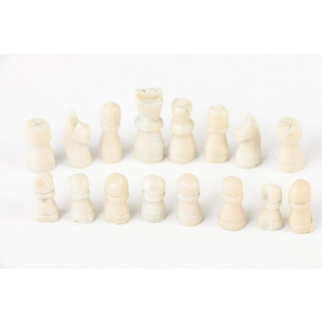 Vintage Malachite and Calcite Miniature Chess Set For Sale In Providence - Image 6 of 9