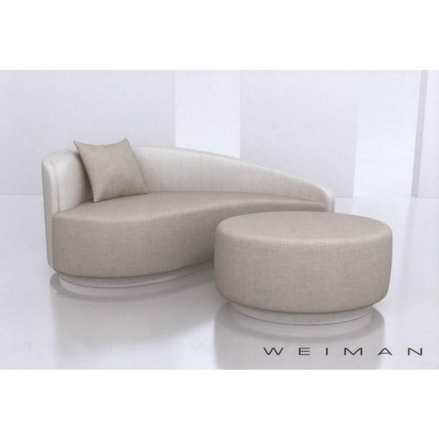 Weiman Petite Curved Sofa & Ottoman by Vladimir Kagan for Weiman For Sale - Image 4 of 10