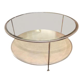 Mid-Century Contemporary Round Coffee Table For Sale