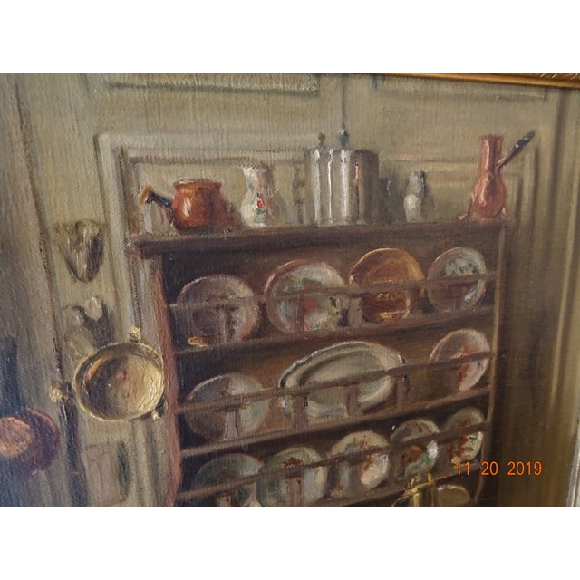 1900 - 1909 Interior Oil on Canvas For Sale - Image 5 of 12