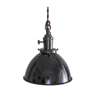 Pair - Brass Switch Socket Pendant Light Black